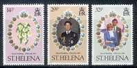 Lady Diana St-Helena 1981 Yvertn° 340-42 *** MNH Cote 3 Euro - Sainte-Hélène