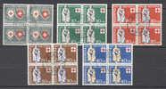 Suisse Pro Patria  590/594 Ob En Bloc 4  TB - Used Stamps