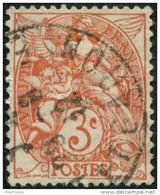 Pays : 189,03 (France : 3e République)  Yvert Et Tellier N° :  109 (o) - 1900-29 Blanc
