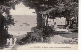 BEG MEIL, Chemin Creux Et Terrasse Du Grand Hotel - Beg Meil