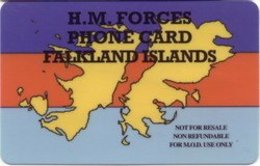 FALKLANDS : ISSUE 1a  20min H.M. FORCES FALKLAND ISLANDS  SATELLITE , SHIP, ARMY  USED - Falkland
