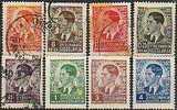 Lote 8 Sellos JUGOSLAVIA 1939. Rey Pedro II */º - Yugoslavia