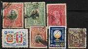 Lote 7 Sellos PERU, Num 127, 128, 180, 278, 345 º - Peru