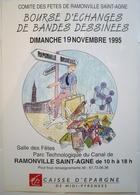 AFFICHE TINTIN Pastiche Pour Salon BD (1995) / APOCRYPHE HOMMAGE PASTICHE // Offset 31 X 44 / 1995 / Rare & TBE ! - Affiches