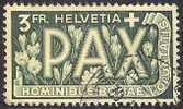 SWITZERLAND 1945 Used Stamp(s) Pax Europa 3 Franc 457 #3690 - Switzerland