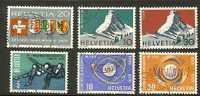 SWITZERLAND 1965 Used Stamp(s) Wallis  Etc 819/824 #3756 - Switzerland