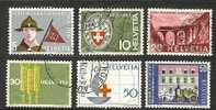 SWITZERLAND 1963 Used Stamp(s) Mixed Issue 768-773  #3743 - Switzerland