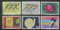 SWITZERLAND 1971 Used Stamp(s) Mixed Issue 940-945 #3786 - Switzerland