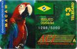 USA $3 MACAW PARROT PARROTS BIRD BIRDS BRAZIL FLAG READ DESCRIPTION !!! - Zonder Classificatie