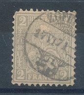 Suisse   N°33 Helvetia 2c Gris - 1862-1881 Sitted Helvetia (perforates)