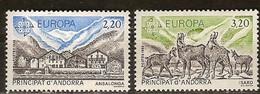 CEPT 1986 Andorra Andorre Français Yvertn° 348-49 *** Faune Cote 10 Euro - 1986