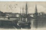 33,Gironde, LANGON, Le Port, Barques De Peche, Scan Recto-Verso - Langon