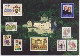 AKFL Liechtenstein Palace - Vaduz Castle - Stamps - Traditional Dress - Coat Of Arms - Map - Wedding - Prince - Liechtenstein