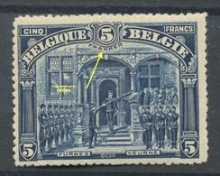 Belgique 147  5 Franken  POSTFRIS  Sans Charnière  Sans Défaut   Cote 2100 Euros - 1915-1920 Albert I