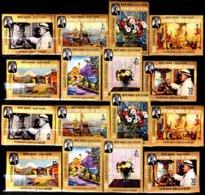 Arabie Du Sud 91 / 98 Mort De Winston Churchill ( Dentelés Et Non Dentelés ) - Briefmarken