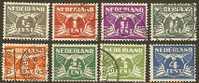 NEDERLAND 1926 Gebruikte Zegel(s) Cijfers (8 Waarden #520 - Period 1891-1948 (Wilhelmina)