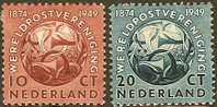 NEDERLAND 1949 OMP Zegel(s) Wereldpostvereniging 544-545 #408 - Period 1949-1980 (Juliana)