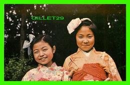 MISSIONS - JAPON - SOURIRE CHARMANT DE YOSIDO ET KISUMOKI DE L'OEUVRE MISSIONNAIRE DES ENFANTS - - Missions