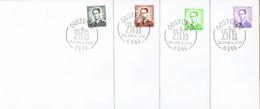 """Lot De 4 Enveloppes Avec Cachet Temporaire """"Oostende Benelux 25"""" (6/9/1969 Et 7/9/1969) Sur Timbre Baudouin Lunettes - Organizations"""