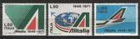 ITALIA - ITALIE - ITALY - 1971 - 25e ANN. DE L' ALITALIA YT 1080/1082 ** - Aerei