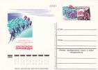 -> Entier Postal Expédition Polaire, Ski, Radio, Panneaux Solaires - Arktis Expeditionen