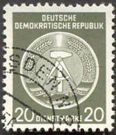 Pays :  24,6 (Allemagne Orientale) Yvert Et Tellier N°: S   8 (o) - Service
