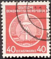 Pays :  24,6 (Allemagne Orientale) Yvert Et Tellier N°: S  12 (o) - Service