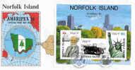 Norfolk-1986 Ameripex Mini Sheet FDC - Norfolk Island