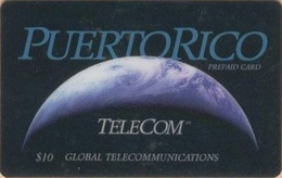 PUERTO : PRIG1 $10 PUERTO-RICO Global Communi (756/1100ex) USED - Puerto Rico