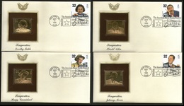 USA 1996 MUSIC, MUSICIAN, SONG WRITERS -JOHNNY MERCER, HAROLD ARLEN, HOAGY CARMICHAEL, DEROTHY FIELD GOLD REPLICA COVER - Music