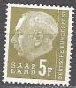Sarre 1957 Michel 411 Neuf * Cote (2011) 0.30 Euro Theodor Heuss - Neufs