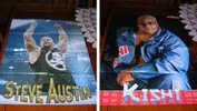 WWE Poster Rikishi Stone Cold Steve Austin WRESTLING - Abbigliamento, Souvenirs & Varie