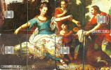 MEXICO PUZZLE OF 4 PAINTING OF VENUS WOMAN CHIP USED READ DESCRIPTION !! - Mexico