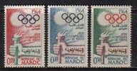 OL-F4 - MAROCCO , N.  476/478  *** - Summer 1964: Tokyo