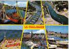 Carte Postale Animée De Le Pouliguen - Vues D'avion Du Port Et Le La Plage - Le Pouliguen