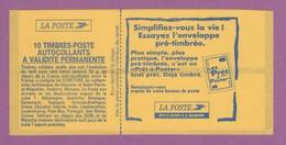 FRANCE CARNET DE 10 TIMBRES DISTRIBUTEUR SANS IMPRESSION VARIETE - Libretti