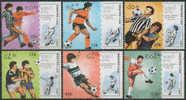 //// Football Mondial 1990 (MNH) LAOS Yvert 897 / 902 ** Michel 1135 / 1140 ** - 1990 – Italie
