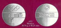 Le Medaglie Ufficiali Dei Partecipanti Alle Olimpiadi 1972 MONACO - Non Classificati