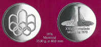 Le Medaglie Ufficiali Dei Partecipanti Alle Olimpiadi 1976 MONTREAL - Non Classificati