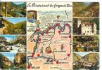 FRANCE - En Parcourant Les Gorges Du Tarn - Carte Multivues - Mapas