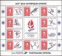 FRANCE Bloc   14 ** XVIème Jeux Olympiques D'hiver ALBERTVILLE 1992 (CV 15 €) Sous La Faciale - Mint/Hinged