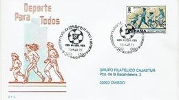 ENVELOPPE OBLITEREE EXPOSITION FILATELICA OLYMPIQUE Et SPORTIVE - CHAMPIONNAT Du MONDE FIFA 1982 - Fútbol