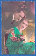 Fantaisie; Paar; Couple; Liebespaar Mit Frau In Grün - Paare