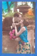 Fantaisie; Paar; Couple; Liebespaar Mit Frau In Blau; 1929 - Paare