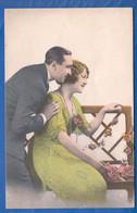 Fantaisie; Paar; Couple; Liebespaar Mit Frau In Hellgrün; 1927 - Paare