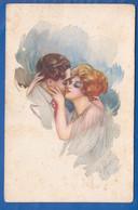 Fantaisie; Paar; Couple; Liebespaar In Aquarell - Paare