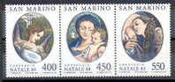 TIMBRE NOUVEAU SAINT-MARIN SAN MARINO 1984 NOEL PEINTURE PEINTRE CORREGGIO MADONNA ENFANT VIERGE - Religión