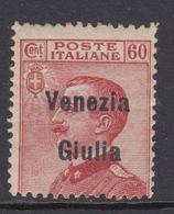 ITALIA - VENEZIA GIULIA - N. 28 - Cat. 180 Euro    FIRM. GEPR.   SORANI - MH* - LUXUS ORIGINALGUMMI M/Falz - Linguellato - 8. Occupazione 1a Guerra
