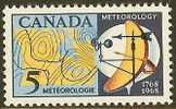 CANADA 1968 Mint Hinged Stamp(s) Meteorological Institute 420 #5556 - 1952-.... Reign Of Elizabeth II