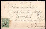 MP31-05 : Dept 31 (Haute Garonne) MONTASTRUC 1905 > Cachets Type A2 + Boite Rurale Lettre C - Postmark Collection (Covers)